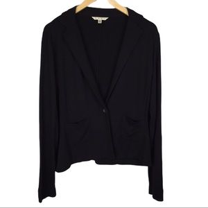 CAbi unstructured black blazer